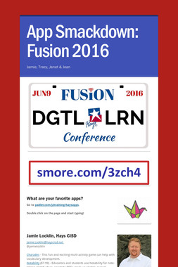 App Smackdown: Fusion 2016