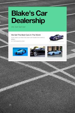 Blake's Car Dealership