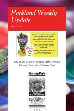 Parkland Weekly Update