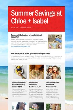 Summer Savings at Chloe + Isabel