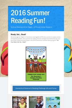 2016 Summer Reading Fun!