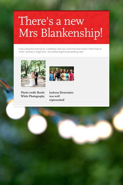 There's a new Mrs Blankenship!