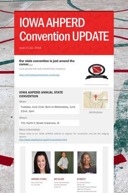 IOWA AHPERD Convention UPDATE