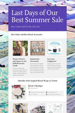 Last Days of Our Best Summer Sale