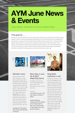 AYM June News & Events