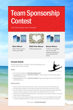 Team Sponsorship Contest