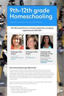 9th-12th grade Homeschooling
