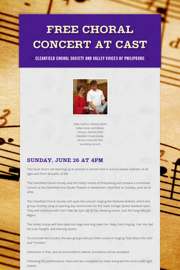 FREE Choral Concert at CAST