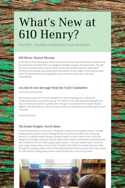 What's New at 610 Henry?