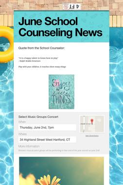June School Counseling News