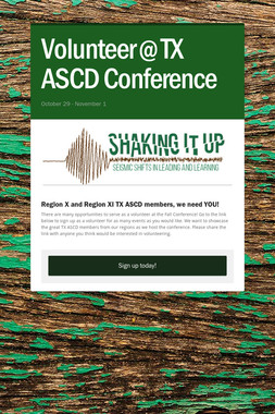 Volunteer @ TX ASCD Conference