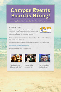 Campus Events Board is Hiring!