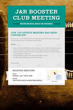 J&R Booster Club Meeting