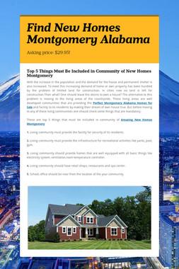 Find New Homes Montgomery Alabama