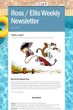 Ross / Ellis Weekly Newsletter
