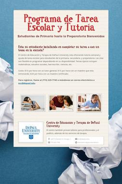 Programa de Tarea Escolar y Tutoría