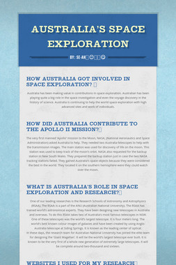Australia's space Exploration