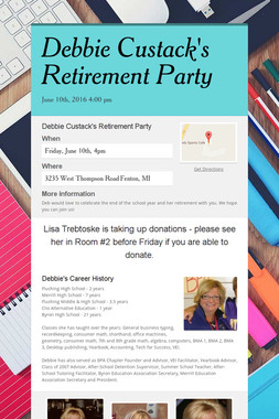Debbie Custack's Retirement Party