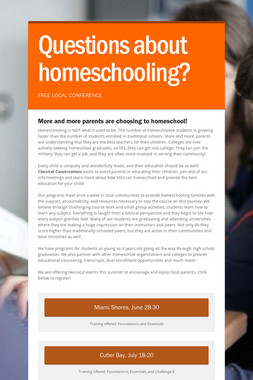 Questions about homeschooling?