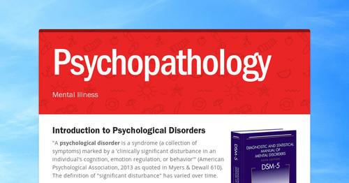 Psychopathology Smore Newsletters