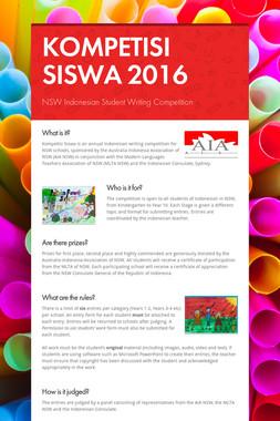 KOMPETISI SISWA 2016
