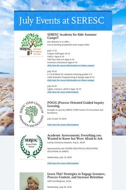 July Events at SERESC