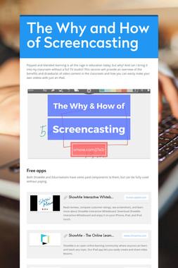 The Why and How of Screencasting