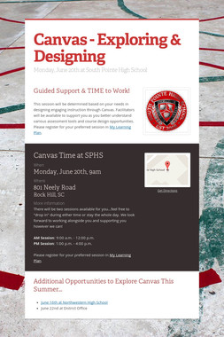 Canvas - Exploring & Designing