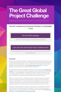 The Great Global Project Challenge