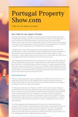 Portugal Property Show.com