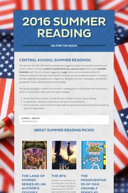 2016 Summer Reading