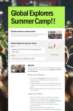 Global Explorers Summer Camp!!