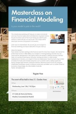Masterclass on Financial Modeling