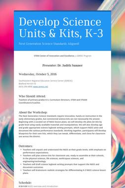 Develop Science Units & Kits, K-3