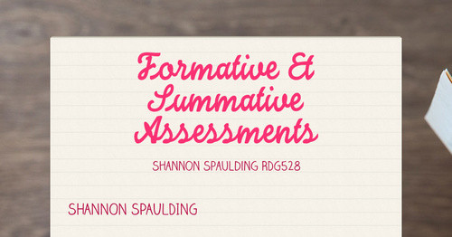 Formative Summative Assessments Smore Newsletters