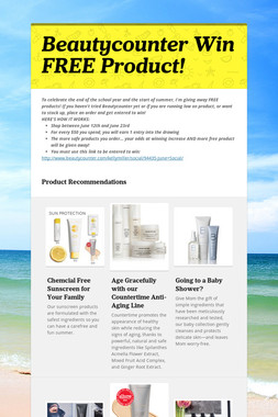 Beautycounter     Win FREE Product!