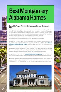 Best Montgomery Alabama Homes