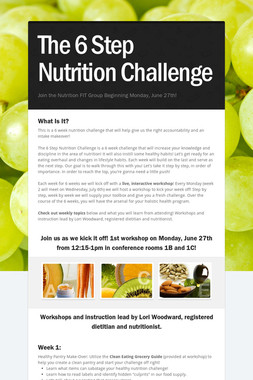 The 6 Step Nutrition Challenge