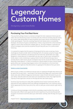 Legendary Custom Homes