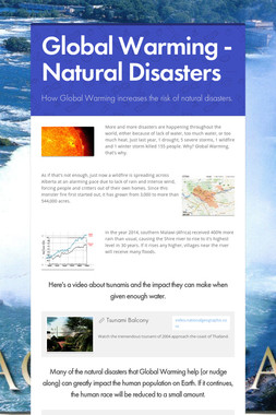 Global Warming - Natural Disasters