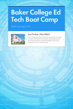 Baker College Ed Tech Boot Camp