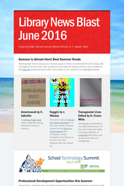 Library News Blast June  2016