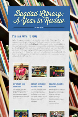 Bagdad Library: A Year in Review