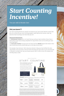 Start Counting Incentive!