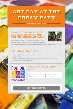 Art Day at the Dream Park