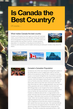 Is Canada the Best Country?