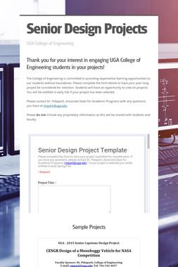 Senior Design Projects