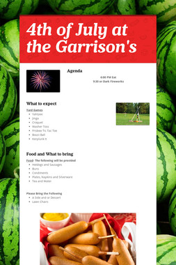 4th of July at the Garrison's