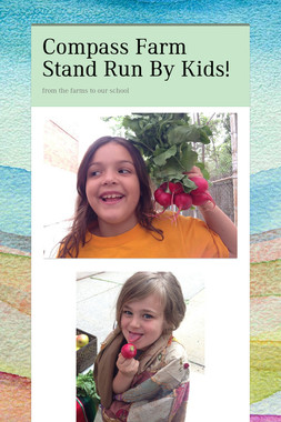 Compass Farm Stand Run By Kids!