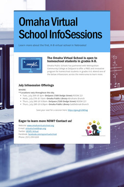 Omaha Virtual School InfoSessions
